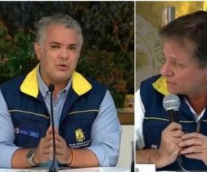 Presidente Duque y Director de la UNGRD.