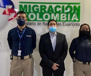 Luis Gustavo Moreno al llegar al país.