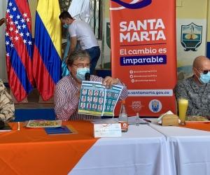 Carlos Holmes Trujillo, durante el Consejo de Seguridad extraordinario en Santa Marta.