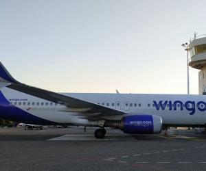 Primer avión de Wingo que aterrizó en Santa Marta.
