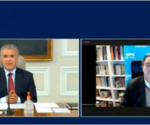 El Subdirector de la OPS/OMS y el Presidente Duque insisten en el uso de mascarillas y tapabocas.