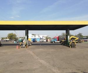 Estación de servicio en La Guajira.