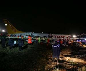 Así quedó el avión.