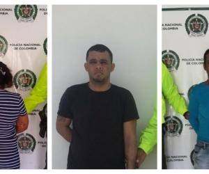 Los tres capturados en Fundación.