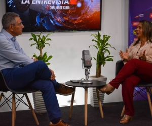 Jorge Cura en La Entrevista con la directora de la Red de Mujeres del Atlántico.