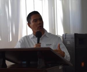 El gerente de Electricaribe en el Magdalena, Edwin Goenaga.
