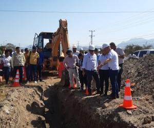 Inicio de la obra de habilitación de la línea de conducción sur - norte del acueducto.