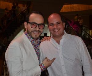 Abelardo de la Espriella al lado de Camilo Noguera, en el Club Santa Marta.