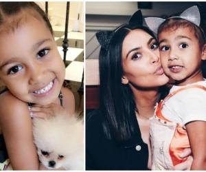 La celebridad junto a su hija.