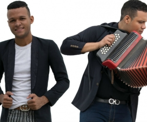 Los artistas samarios Klisman Soto  & Rodrigo Palma.
