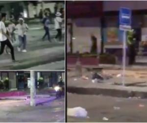 Un video aficionado grabó el momento del saqueo y el instante en que llega la Policía con la tanqueta del Esmad.