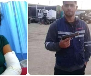 Beatriz Muñoz (izq) fue brutalmente agredida por su expareja, un hombre peligroso, según la mamá de la víctima.