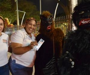 Distribución de preservativos en carnavales.