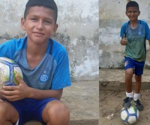 El pequeño espera contar con el apoyo para probarse en Barranquilla.