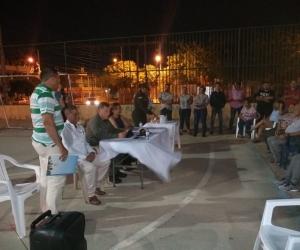 Reunión de las autoridades en el barrio Andrea Carolina