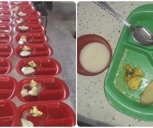 Así llegó la comida a la boca de los niños en Guamal.