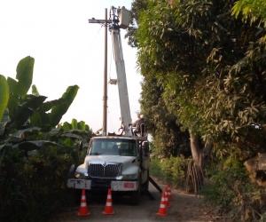 Robo de cables en Zona Bananera