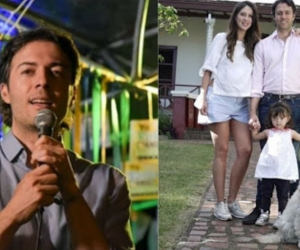 Daniel Quintero y su familia.
