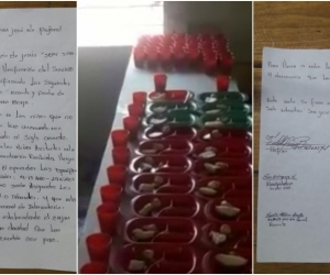 En esta acta según el operador UT Alimentar es la Vía se acordó la entrega de ración a todos los niños de la escuela de Guamal.