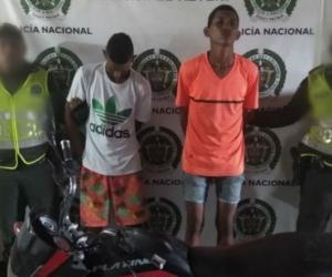 Hombres capturados en El Retén.