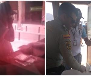 El hombre que fue grabado soplando las bolsas fue capturado.