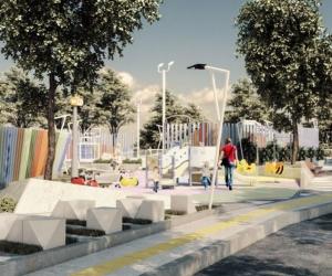 Así serían los parques que se construirán en la ciudad.
