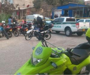 Escena del triple feminicidio en Cartagena.