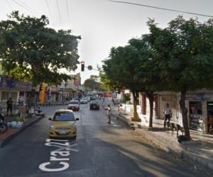 Carrera 27 con calle 70C, lugar donde fue herido el taxista.