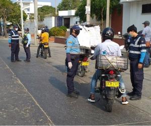 Operativos de los agentes de tránsito del Distrito.