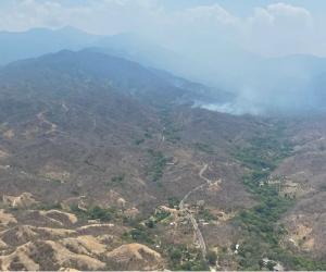 Incendios en Santa Marta.