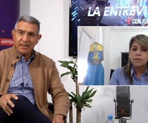 Virna Johnson, alcaldesa de Santa Marta, en entrevista con Jorge Cura.