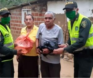 Patrulleros Eimer Sierra Barros y Jhon Bolaños Hernández
