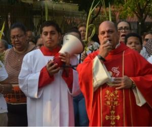 Celebración del Domingo de Ramos en Santa Marta en el año 2019