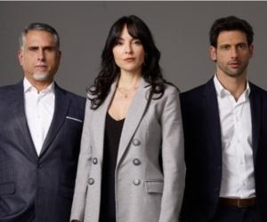 Carolina Gómez, Marlon Moreno y George Slebi.