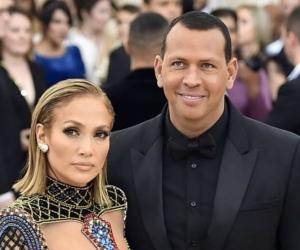 Jennifer López y su novio Alex Rodríguez