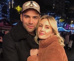 Radamel Falco y su esposa Lorelei Tarón