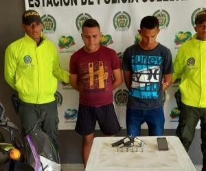 Luis Carlos Álvarez Rivera, alias 'Pastorcito mentiroso', y Jhan Carlos Romero Mercado.