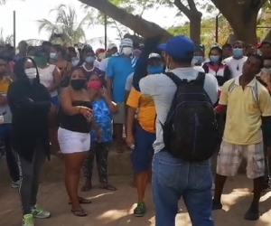 Tagangueros protestan este Viernes Santo contra el coronavirus.