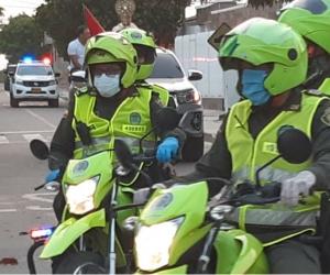 Patrullaje de la Policía del Magdalena.