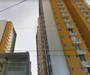 Conjunto residencial de donde cayó el hombre desde el noveno piso.
