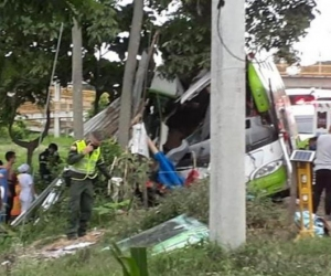 Accidente de bus en Valle del Cauca.
