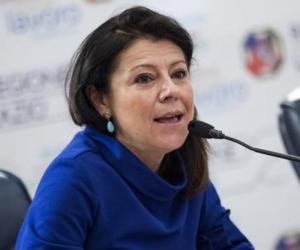 Ministra de Transportes de Italia, Paola De Micheli.