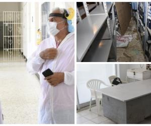 Nuevo gerente del hospital de Ciénaga durante su recorrido.