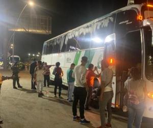 Bus inmovilizado.