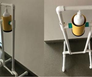 Dispensador diseñado por estudiantes de Ingeniería Industrial de la Unimagdalena.
