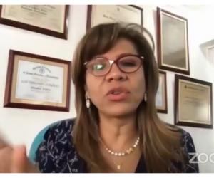 La magistrada María Victoria Quiñonez Triana expuso a los futuros profesionales la importancia de conocer temáticas que en la actualidad, por el covid-19, son necesarias en el ejercicio del Derecho.