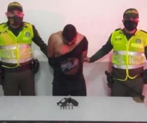 Hombre capturado.
