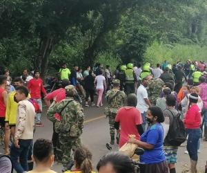Invasión en la Lengüeta denunciada por Danilo Villafañe.