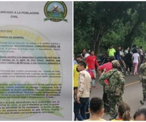 Con panfleto le piden a 'invasores' que abandonen zona de Don Diego.