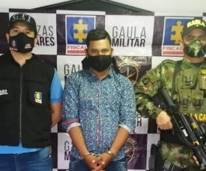 Kevin Alberto Calderón Padilla, capturado por extorsión.